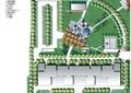 小区规划,小区景观,植物平面,草坪