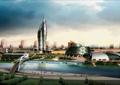 商业中心,商业区设计,商业环境,河道景观