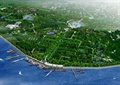 滨水景观,码头,道路,植被