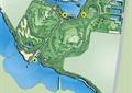 城市规划,河流景观,道路,植被
