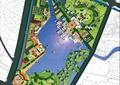 滨水景观,道路,建筑,植被