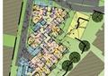 商业建筑,户型图,植被,道路