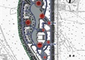 商业环境规划,道路分析图,植被