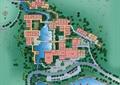 度假酒店规划,酒店建筑,水体景观,道路,植被
