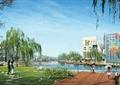 园路,汀步,木平台,水景,草坪,住宅景观