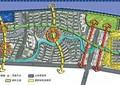 住宅景观规划,景观分析图,水景,道路,植被