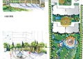 住宅景观规划,木栅栏,喷泉水景,花架,水体景观