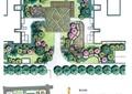 小区景观,组团植物,地面铺装
