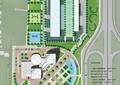 商业环境规划,植被,道路,运动场,水池