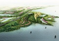 滨水景观,道路,植被,船只