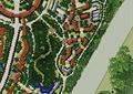 商业环境规划,道路,河流景观,建筑,植被