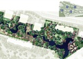 小区景观,住宅景观,组团植物,拼花铺装