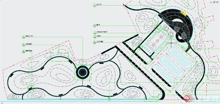 某地白龙镇公园景观规划设计CAD施工图(1)