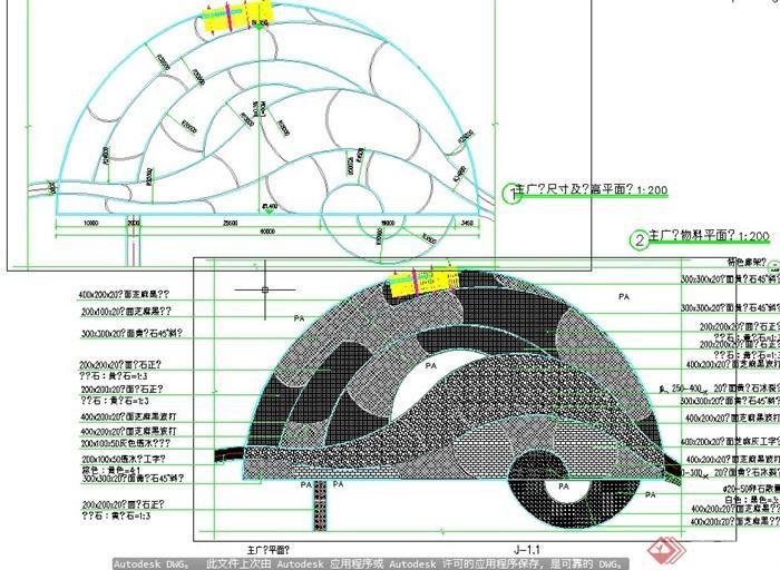 某地白龙镇公园景观规划设计CAD施工图(3)