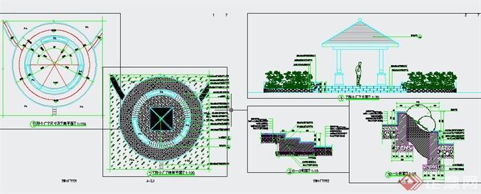 某地白龙镇公园景观规划设计CAD施工图(5)