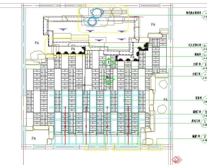 住宅屋顶天台花园景观设计CAD施工图(1)