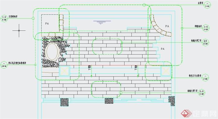 某别墅后花园景观设计CAD施工图(1)