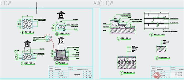 某别墅后花园景观设计CAD施工图(3)