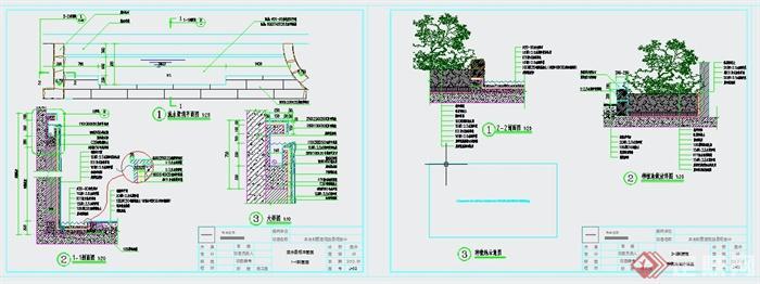 某别墅后花园景观设计CAD施工图(4)