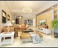 客廳,沙發,茶幾,地柜,臺階,電視,電視柜,植物盆景,吊燈