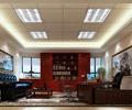 办公室,办公桌椅,沙发,茶几,天花吊顶,背景墙,地毯