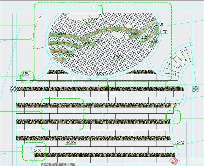 某住宅天台花园景观规划设计CAD施工图(1)