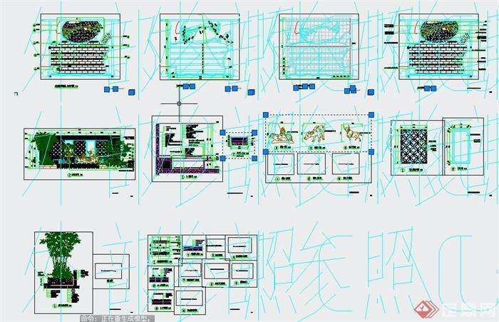 某住宅天台花园景观规划设计CAD施工图(2)