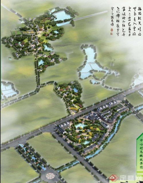 某徽派乡村规划方案设计(含文本、cad)(1)