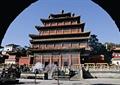 寺庙建筑,文化建筑,古建筑,石栏杆,台阶,避暑山庄