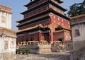 古建筑,文化建筑,寺庙建筑,地面铺装,台阶,石栏杆,避暑山庄