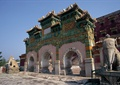 牌坊,门廊,石雕塑,大象雕塑,避暑山庄