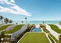 草坪,游泳池,矮墙,热带植物