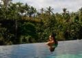 游泳池景观,热带植物