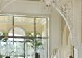 水晶吊灯,景观水池,地灯,装饰墙,酒店大厅