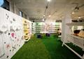 形象墙,秋千椅,鞋店展厅,展厅设计