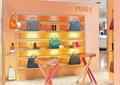 展示架,女式包,形象墙,圆木桌,地面铺装,箱包店