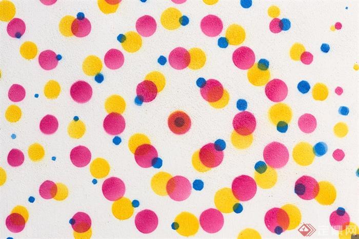 圆圈贴图,布纹贴图