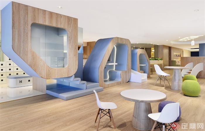 教室,桌椅组合,木地板,幼儿园