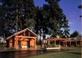 厕所,小木屋,公建,廊架,常绿乔木,道路,草坪