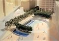 沙盤模型,廣場,種植池,景觀水池