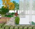 地面铺装,植被,汽车,住宅景观