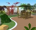 地面铺装,桌椅,植被,景石,屋顶花园