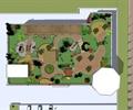 廊架,园路,植被,亭子,景石,屋顶花园