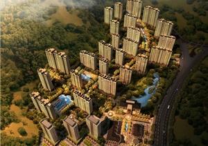 法式风格中高档住宅小区规划设计PPT文本