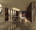 桌椅,装饰画,书架,地面铺装,展示台,摆件,背景墙,书房,住宅空间