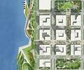 城市规划,滨水景观,道路,植被