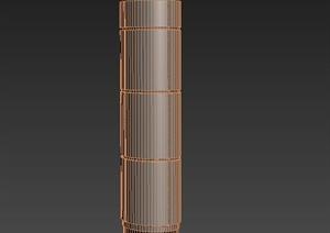椭圆形建筑节点装饰柱设计3DMAX模型
