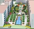 住宅景观,喷泉水池景观,树池,景观树,廊架,亭子,园路