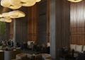 沙发茶几,吊灯,形象墙,地面铺装,会所空间