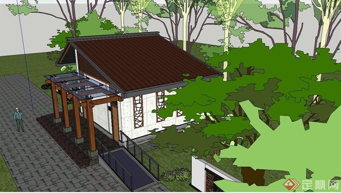 某公园公共厕所设计SU模型(2)